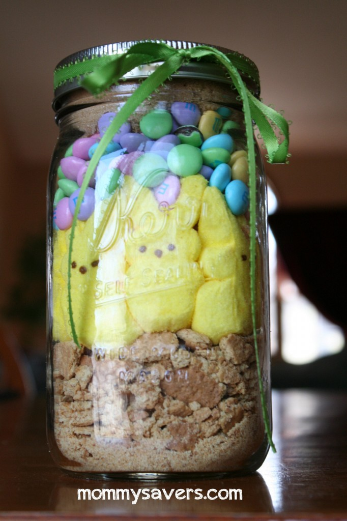 Easter Crafts: Bunny S'mores in a Jar | Mommysavers