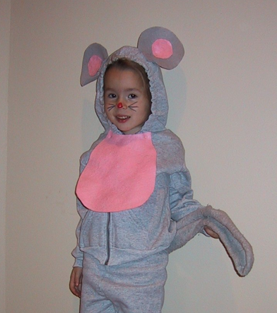 Homemade Animal Costume Idea: Mouse