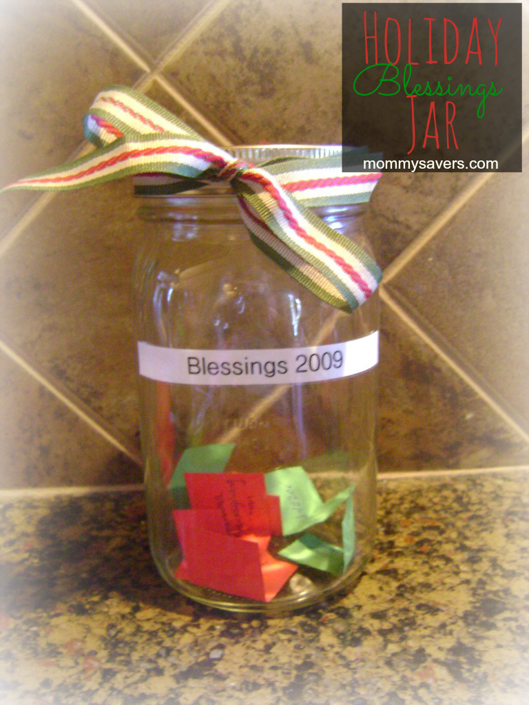 Holiday Blessings Jar