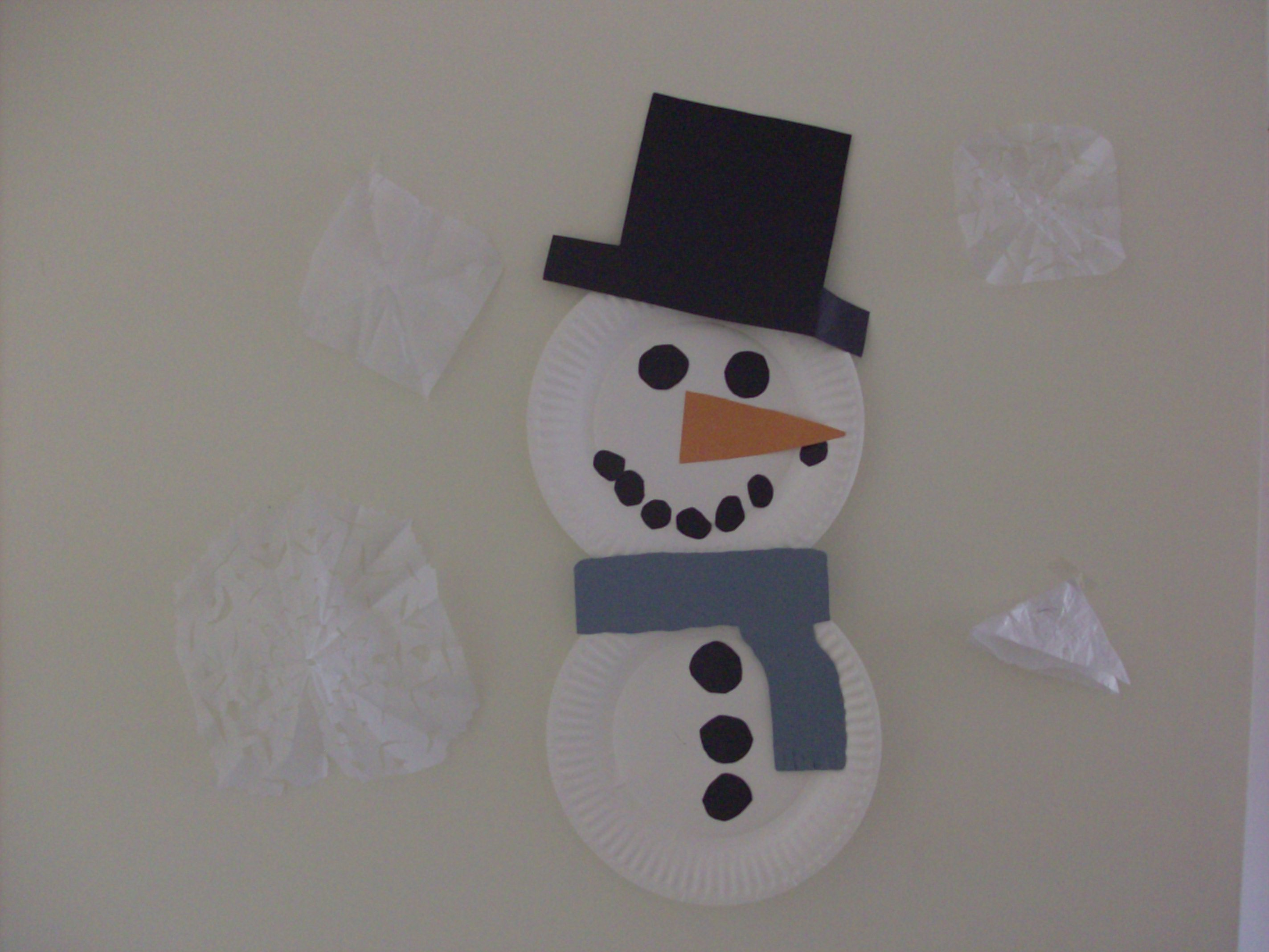 Thanks ... & Indoor Winter Fun: Paper Plate Snowman Kids Craft | Mommysavers