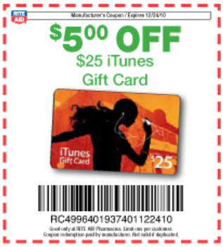 rite aid itunes coupon