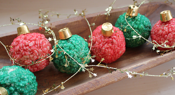 Christmas Rice Krispie Treats Holiday Ornaments