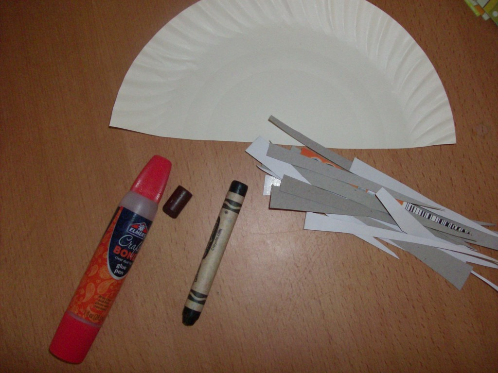 paper plate crafts for kids porcupine