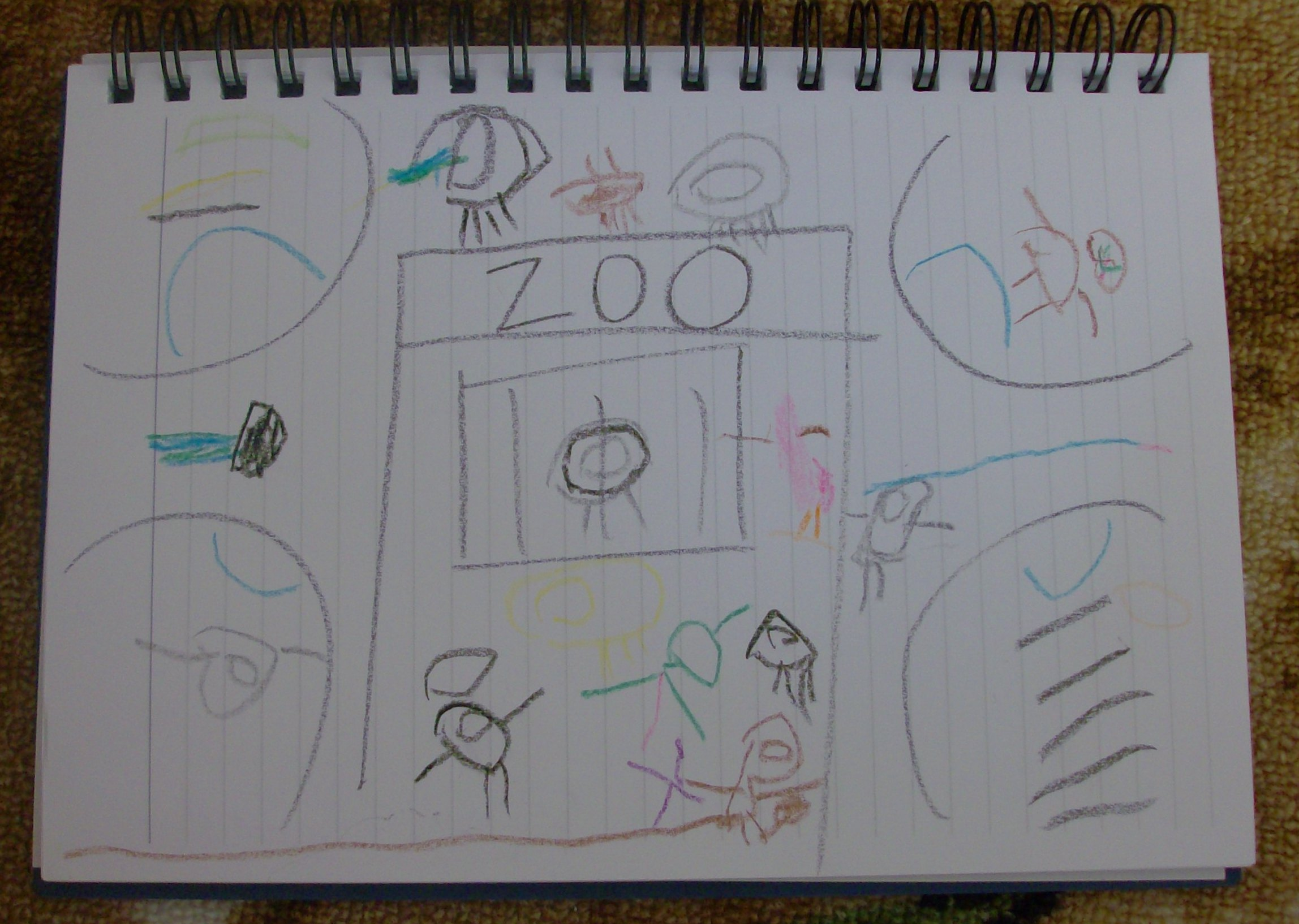 Kids Craft Scene Drawing Zoo