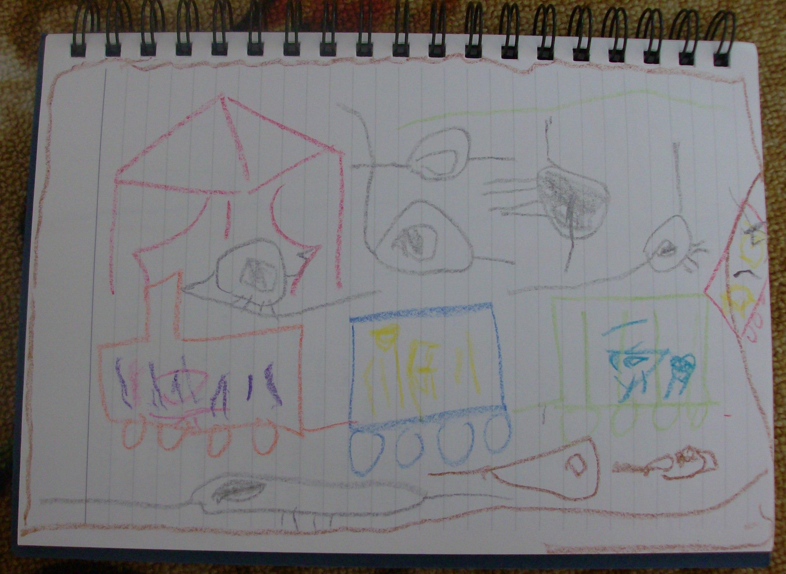 kids craft  scene drawings