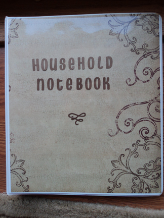Household Notebook Journal