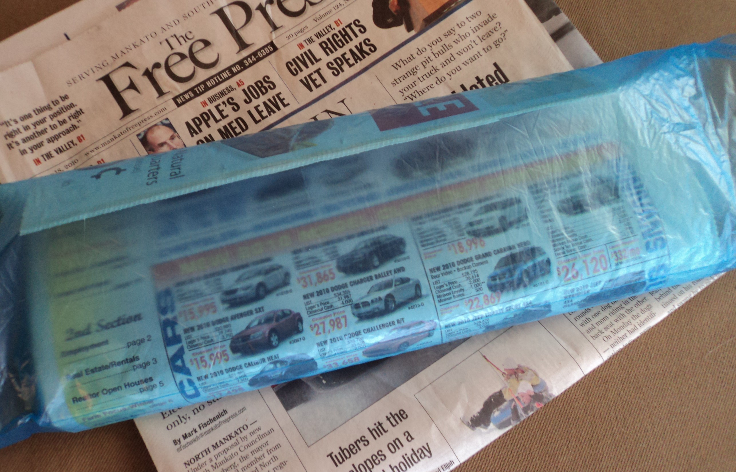 plastic newspaper bag