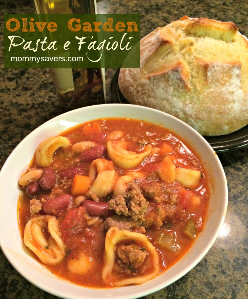 olive garden crock pot recipes - pasta e fagioli | mommysavers.com