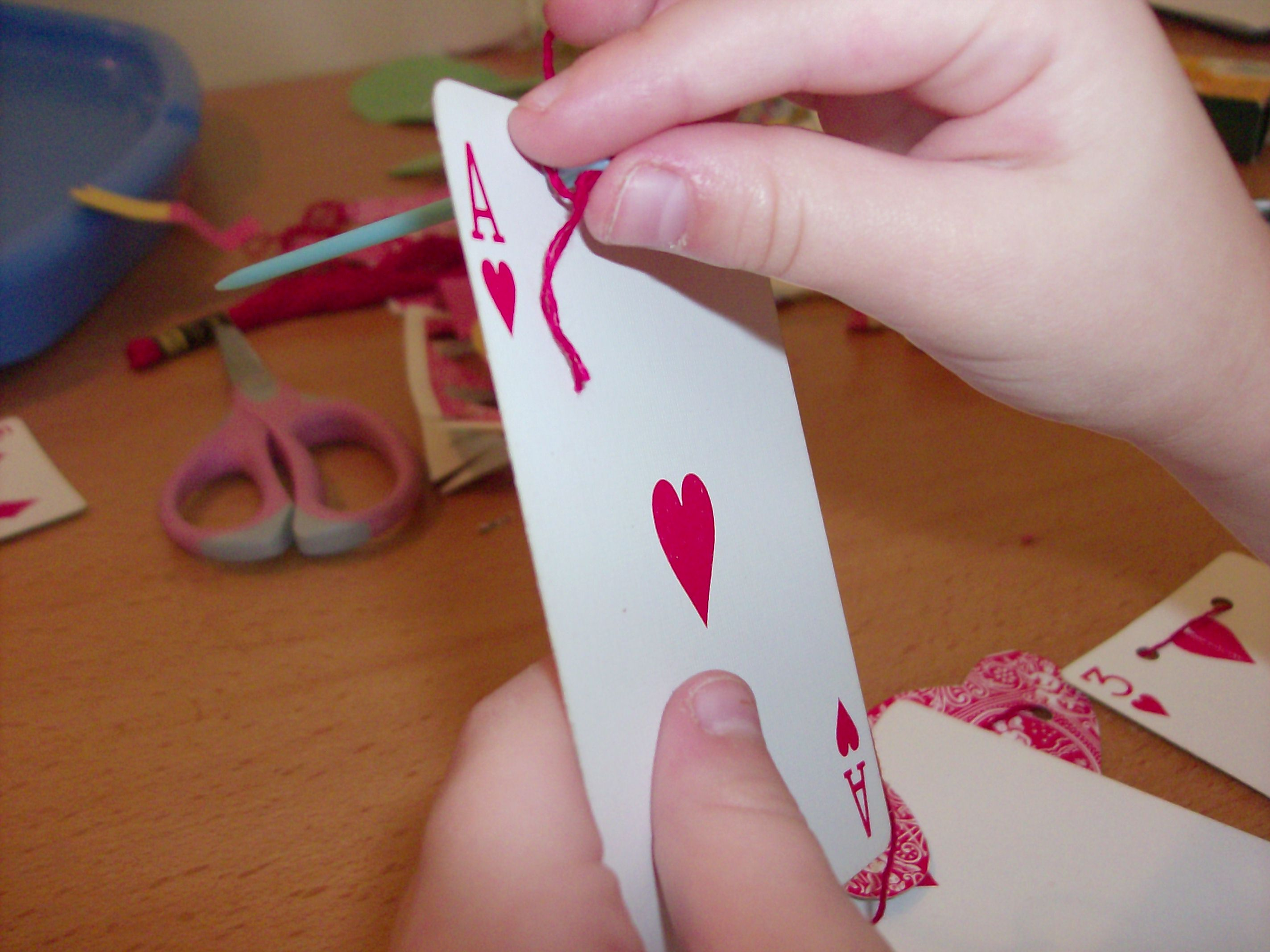 Kids Valentine S Day Crafts Deck Of Cards Playing Card Banner And