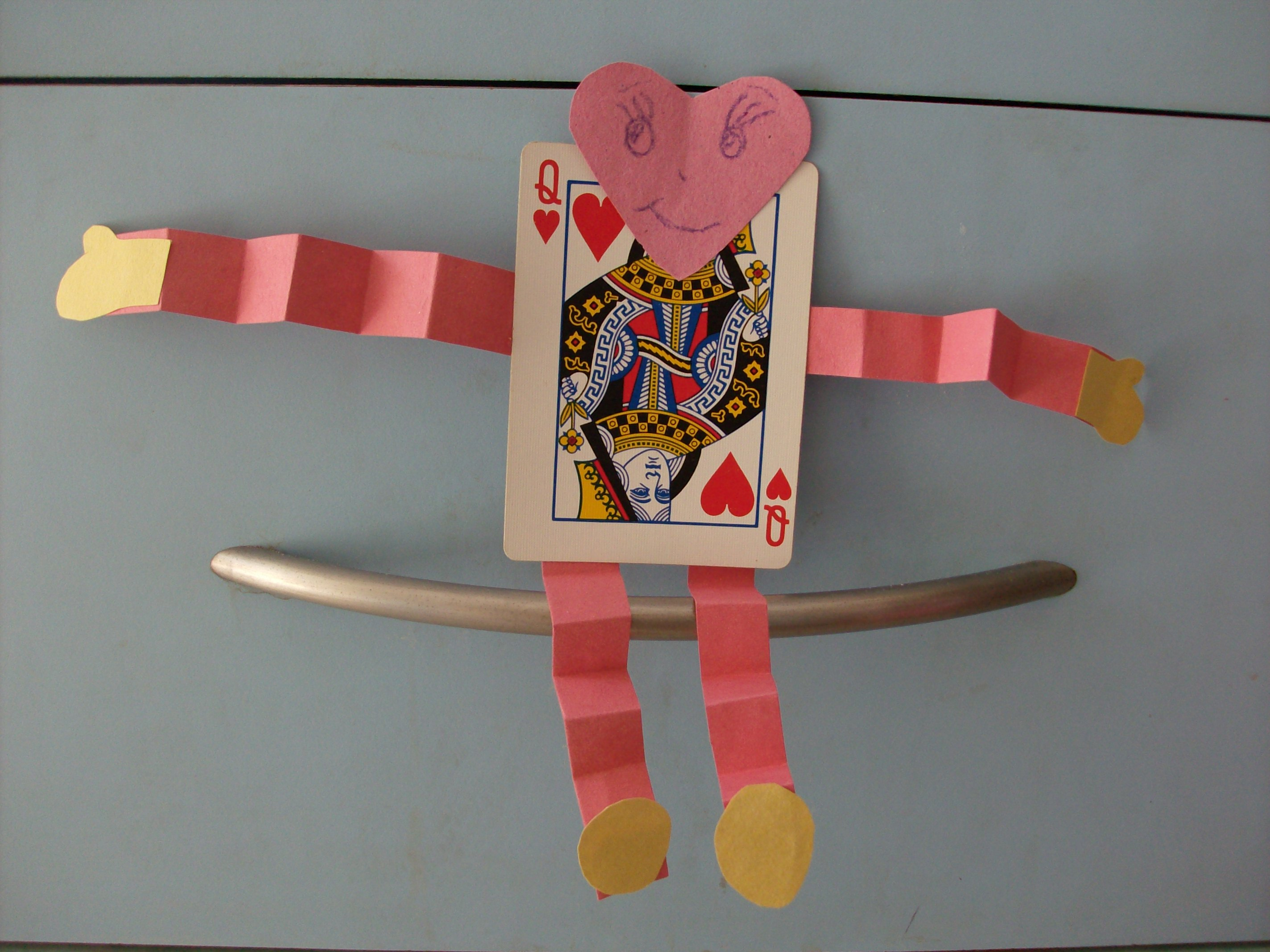 Kids Valentine's Day Craft Playing Card Pals