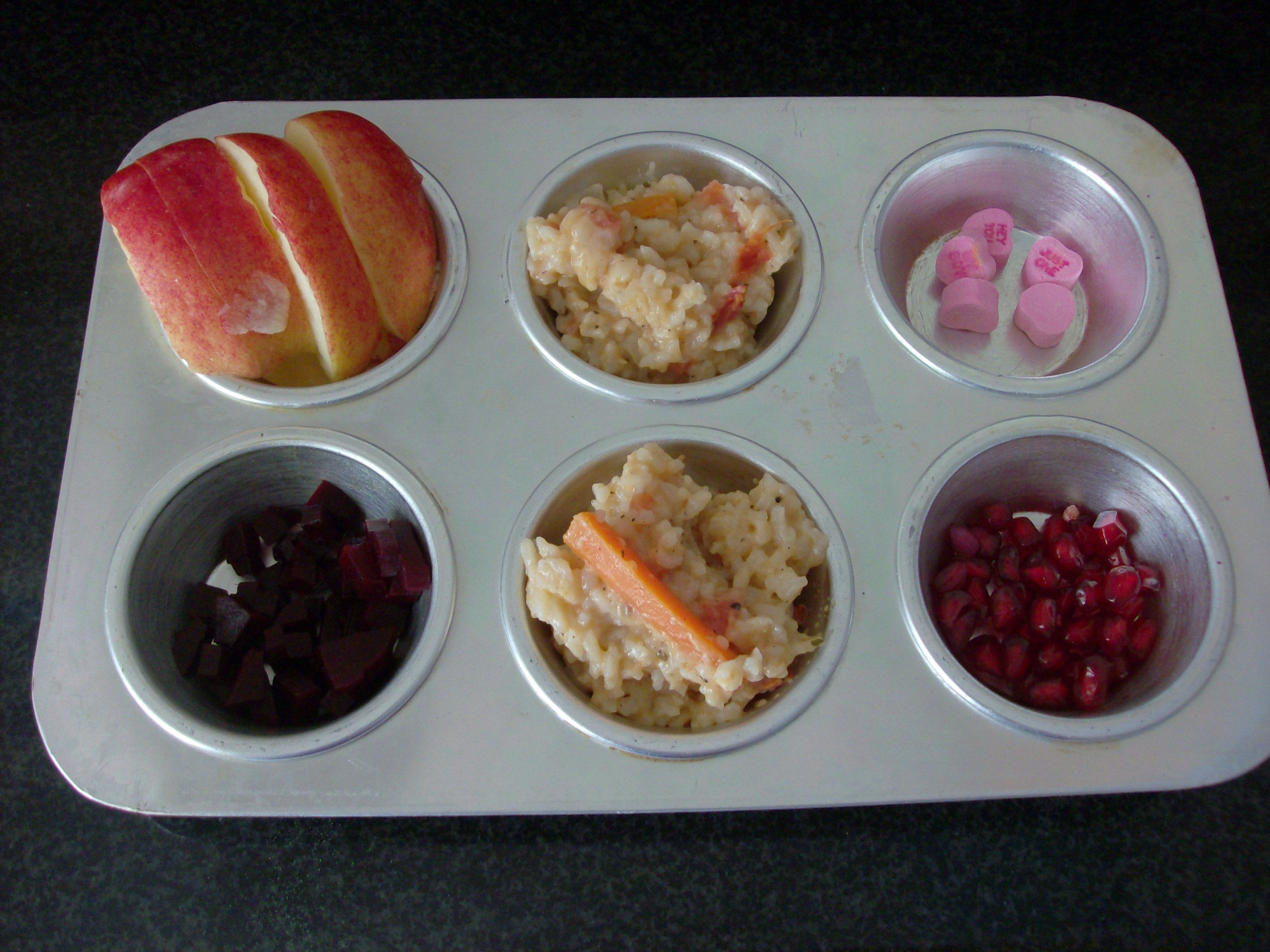 Valentine's Day Muffin Tin Meal