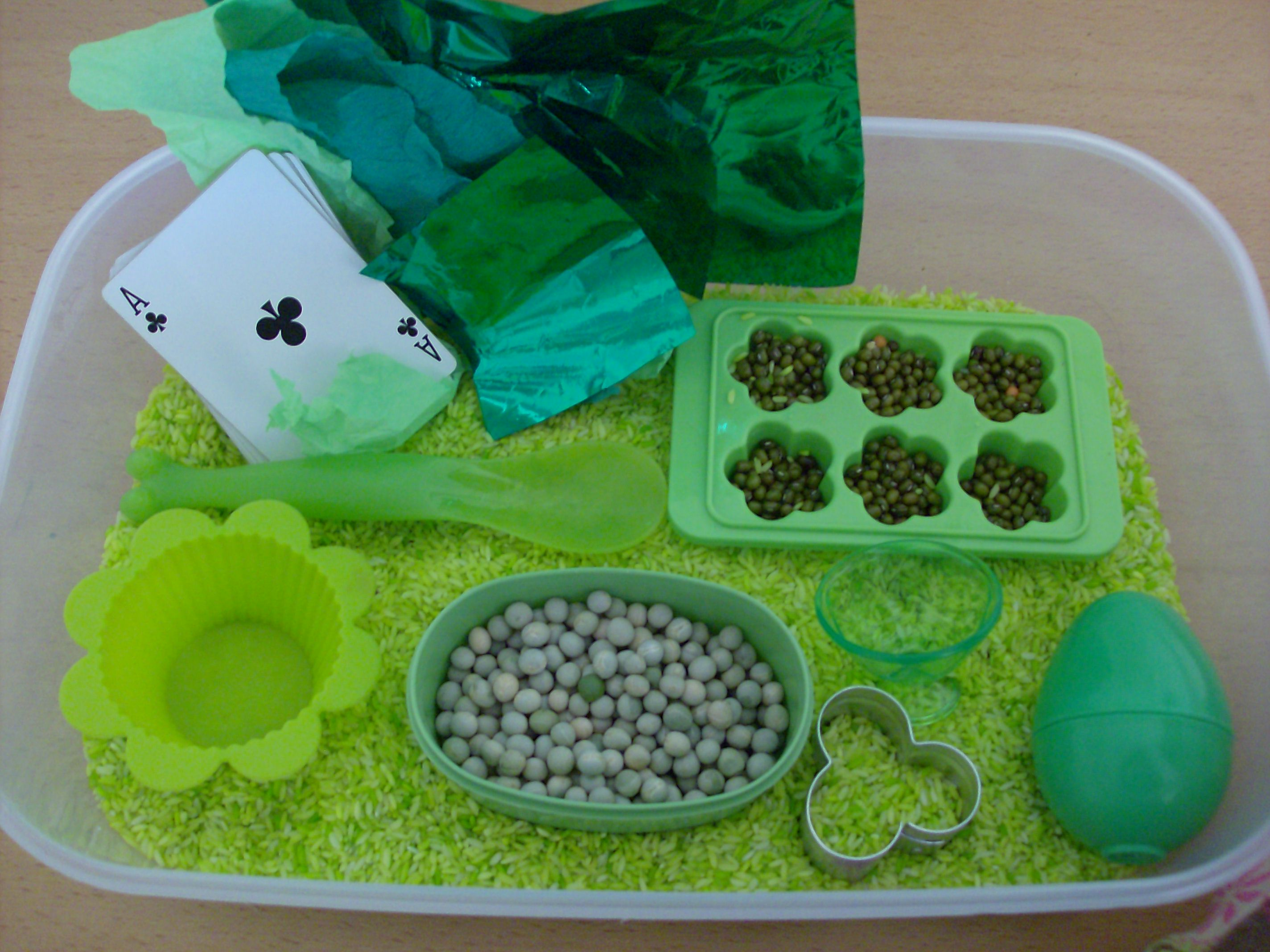 3 Ways To Dye Rice And St Patrick S Day Sensory Box