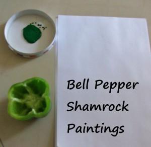 bell pepper shamrock paintings st. patrick's day green pepper