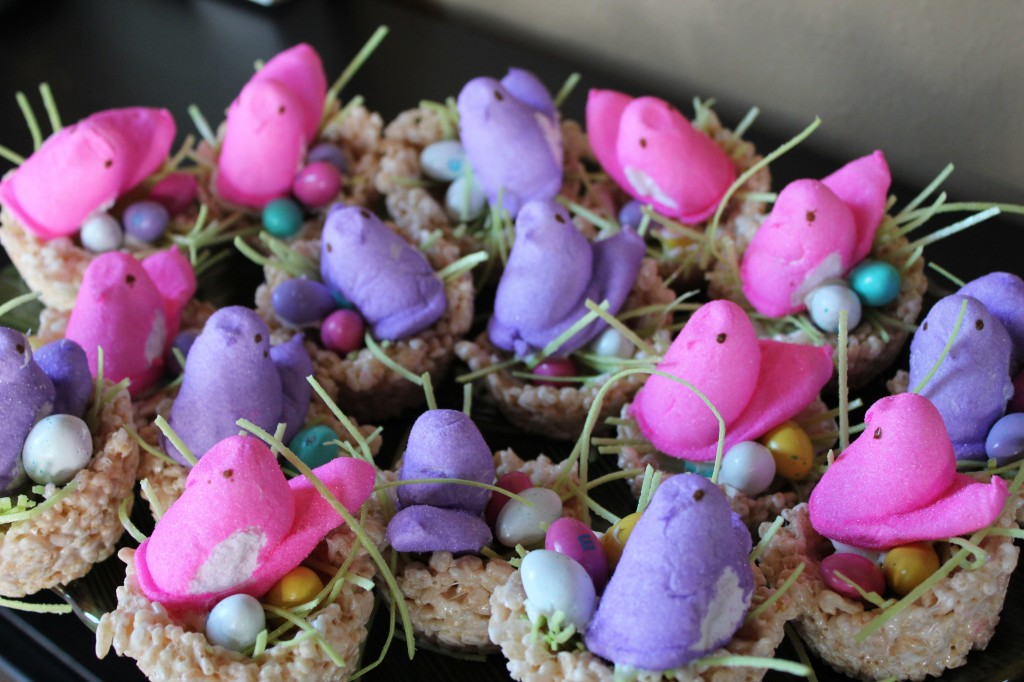 Marshmallow Peeps Crafts: Bird Nest Rice Krispy Treats | Mommysavers