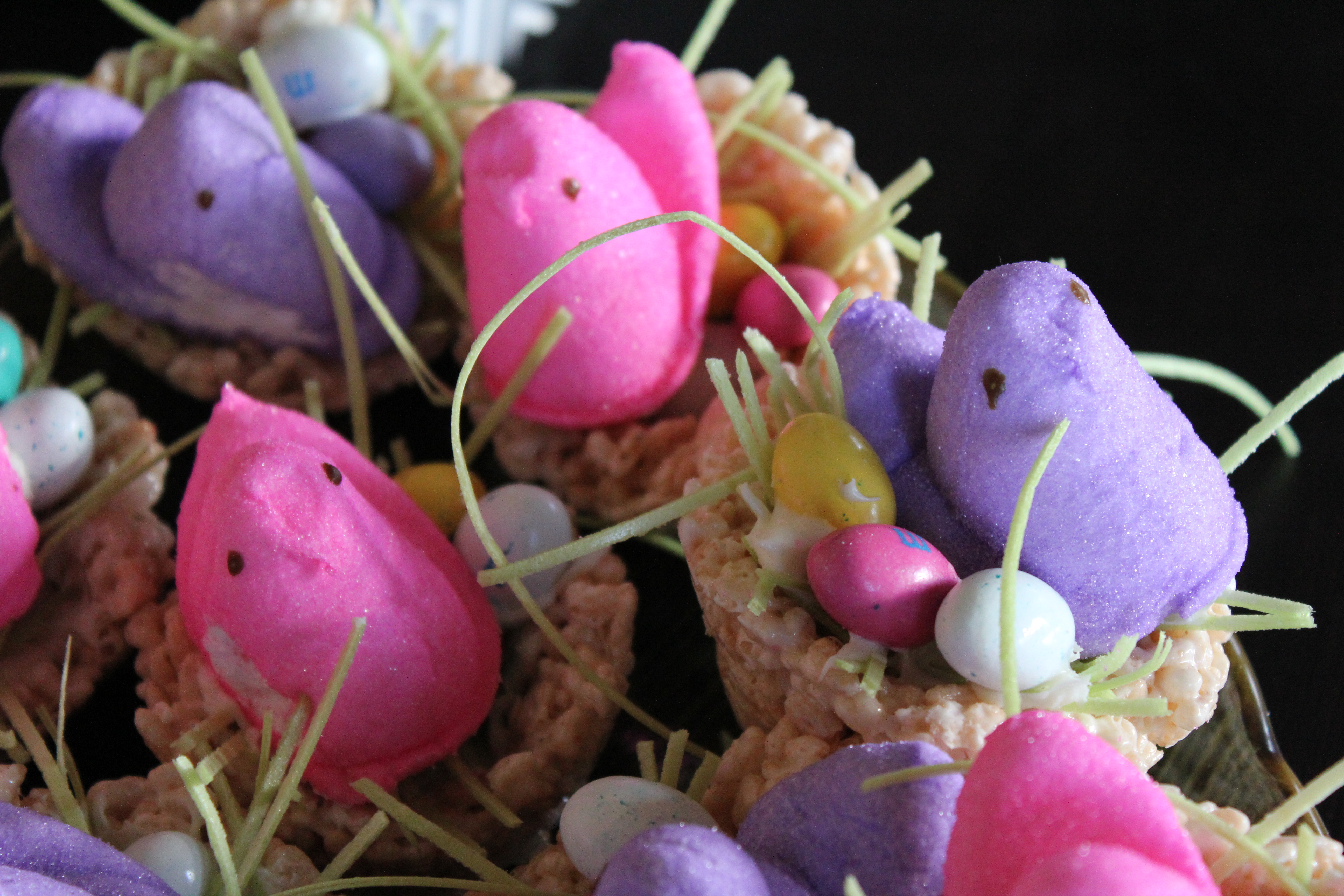 Marshmallow Peeps Bird Nests