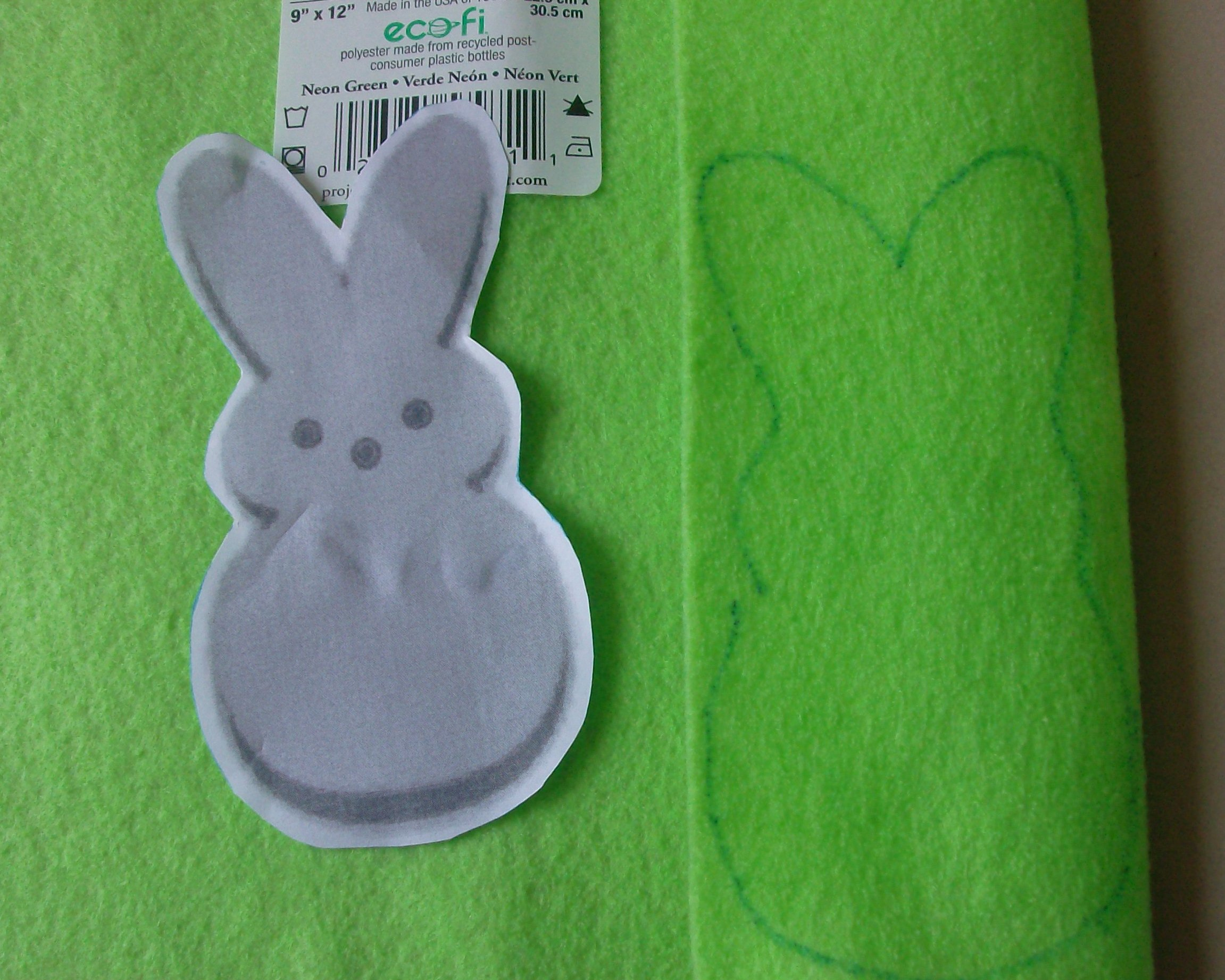 Easter gift idea felt peeps bunnies mommysavers trace negle Gallery