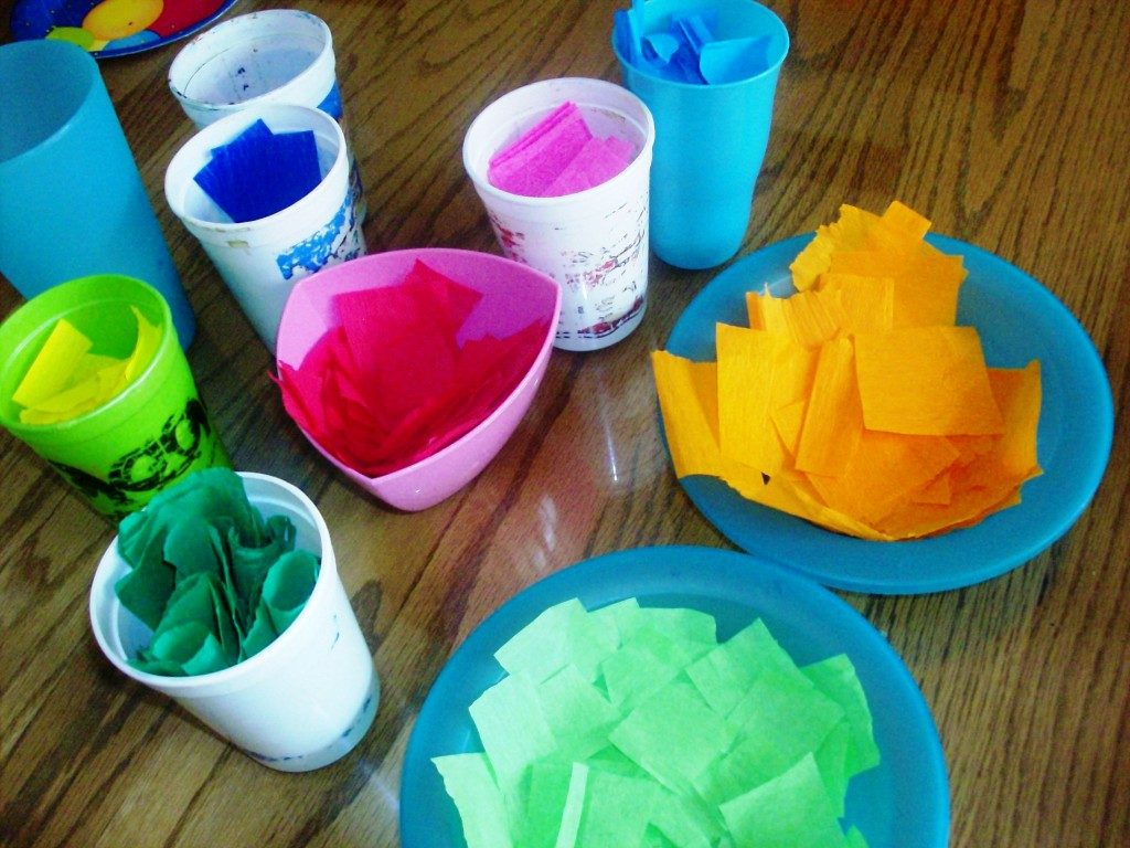 Puffy tissue paper easter egg craft mommysavers
