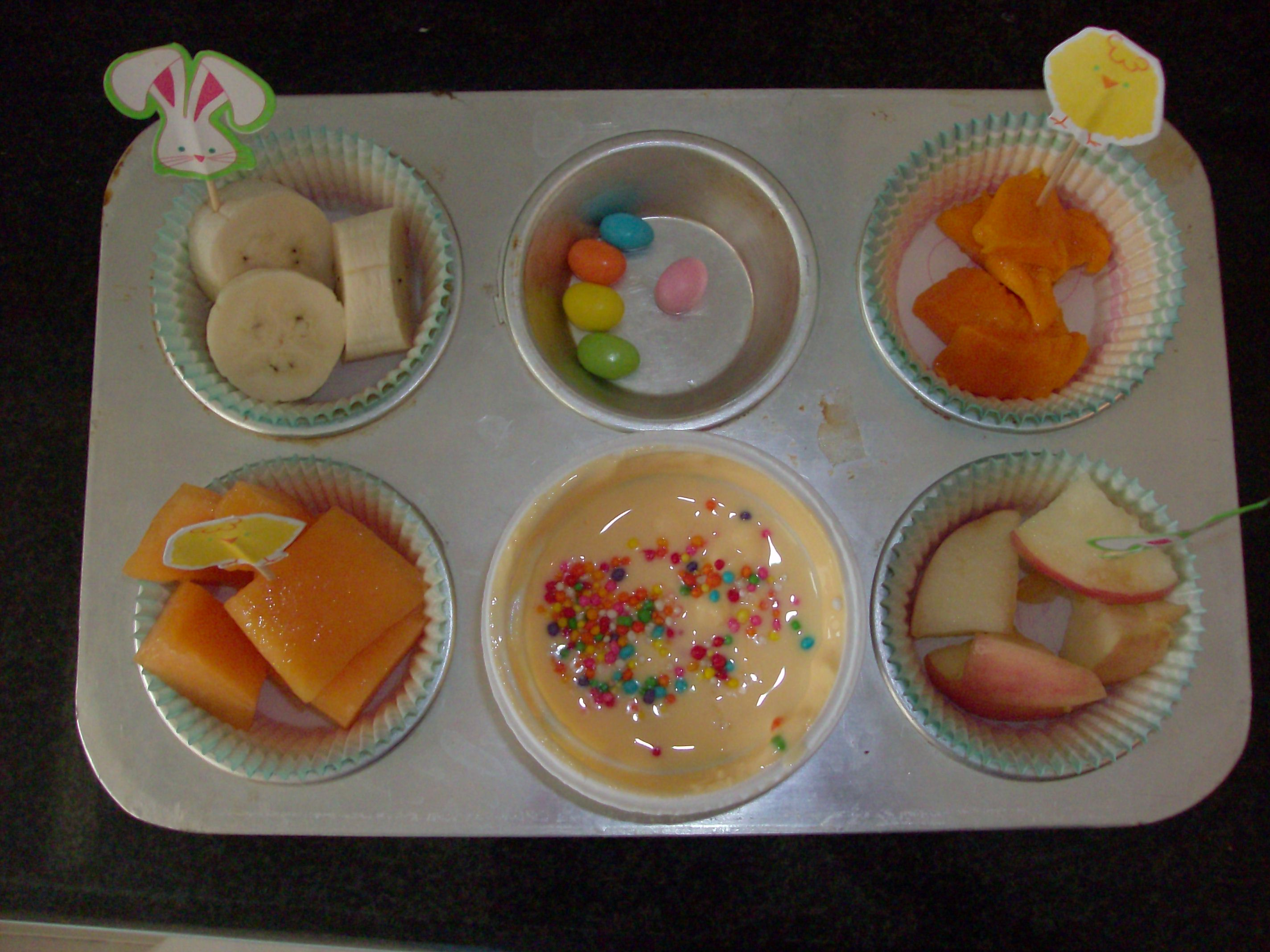 Muffin Tin Meal: Easter Fruit Tin