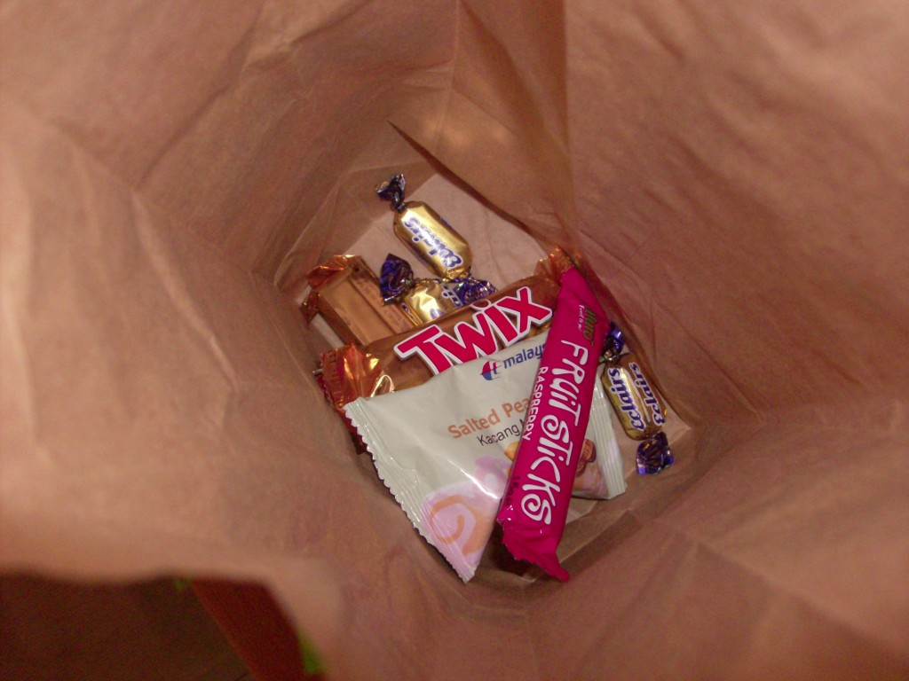 Fill the Pinata with candy