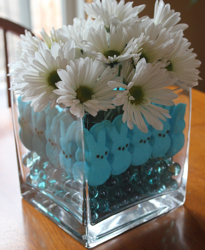 Marshmallow peeps craft easter centerpiece mommysavers