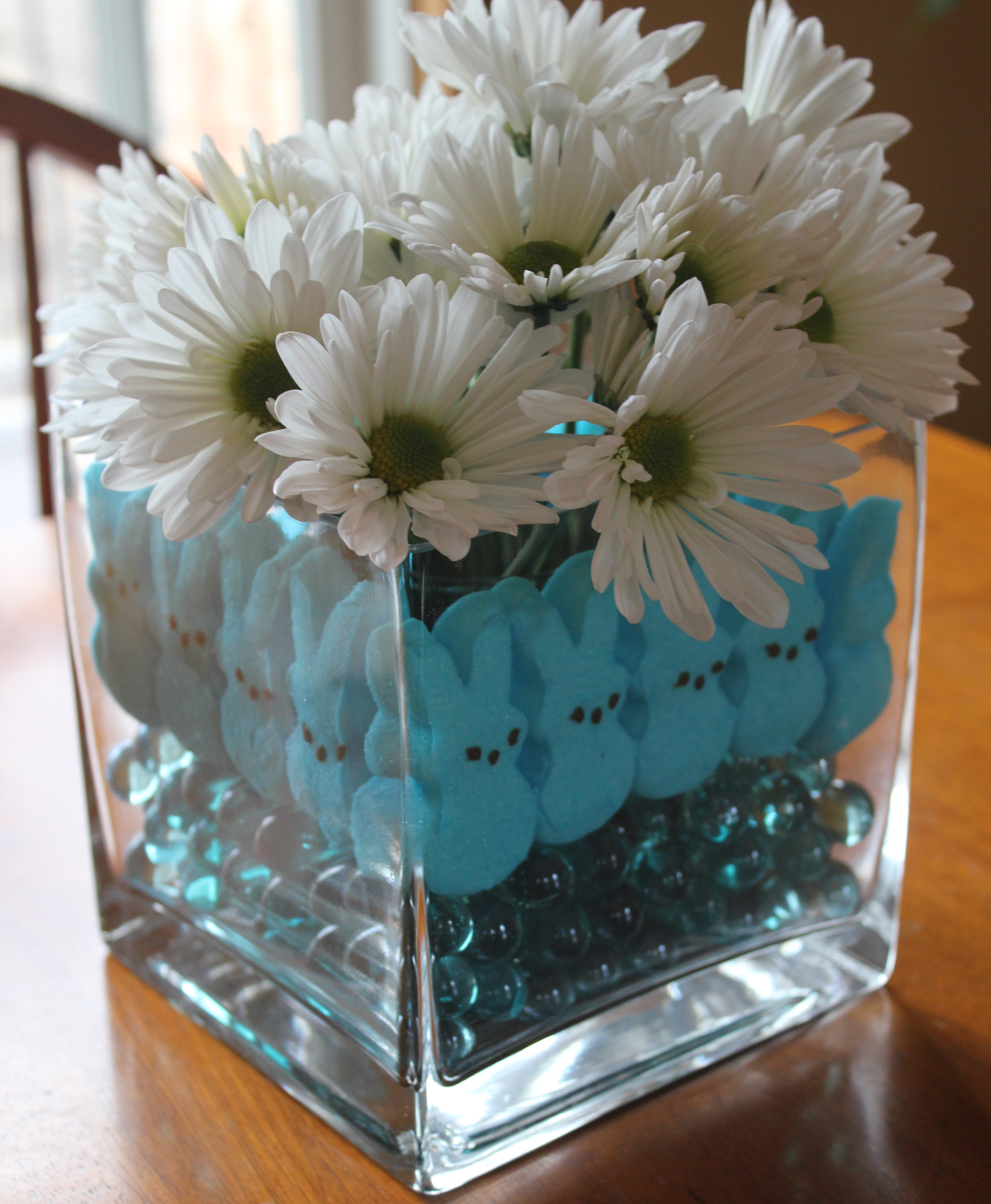 marshmallow peeps bunnies easter centerpiece