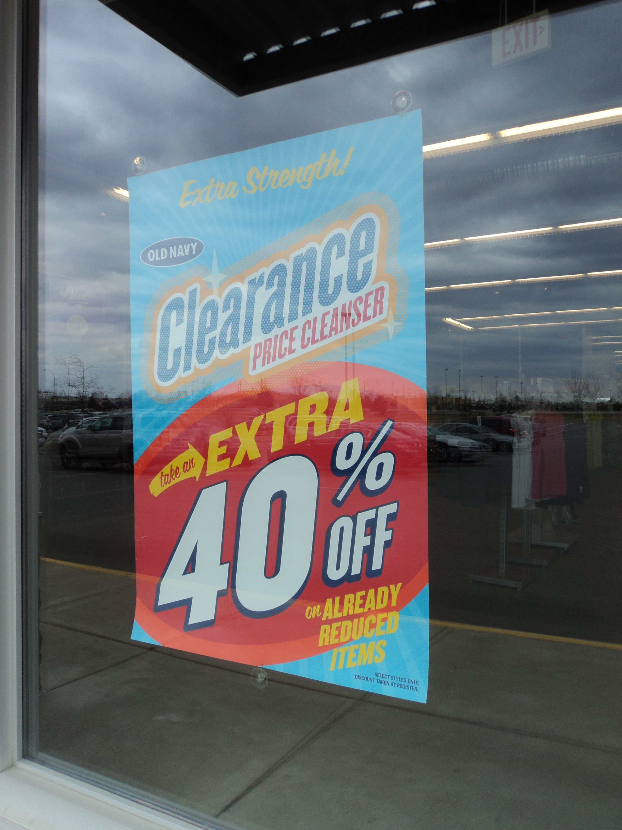 old navy clearance 40%
