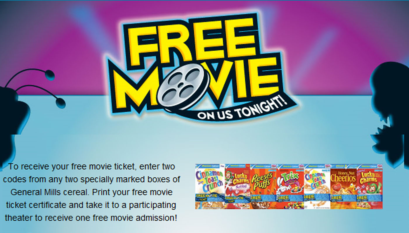 general mills movie tickets offer