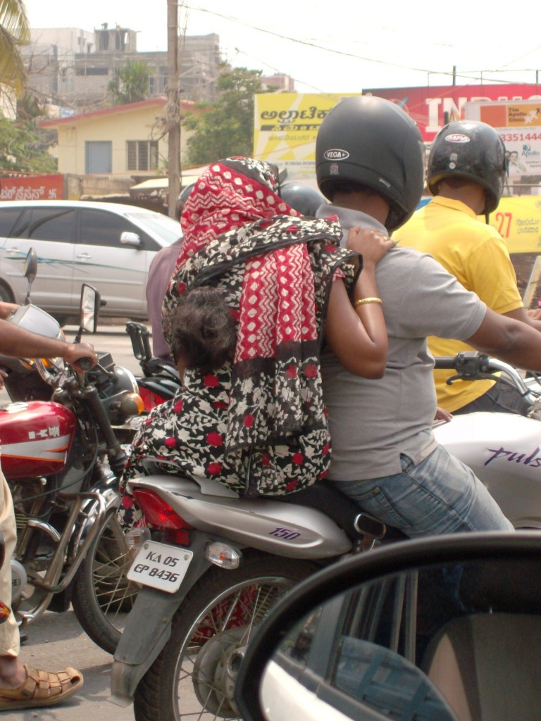 Frugal Foreigner: Sari on a motorcycle