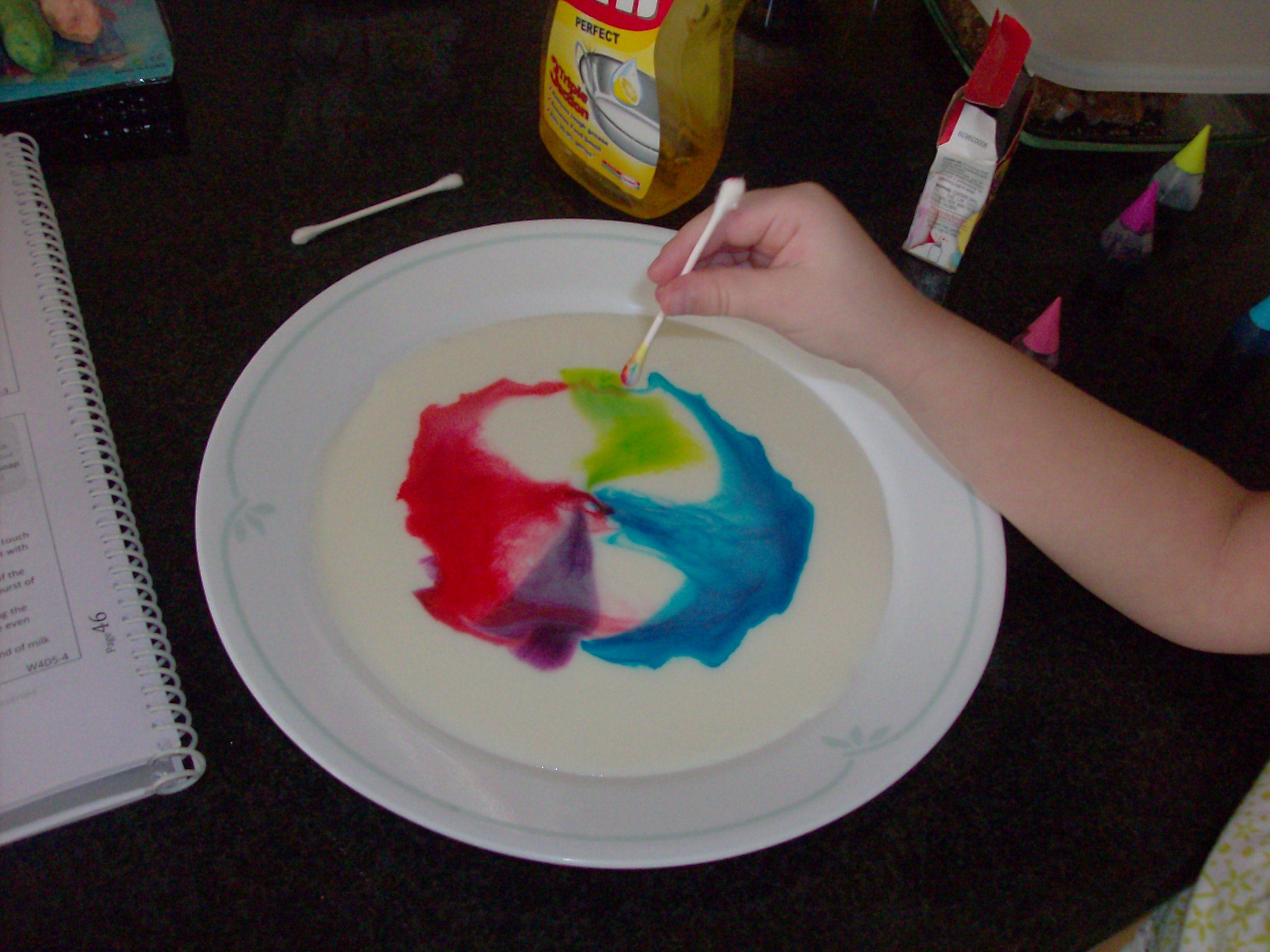 fun for kids magic milk fireworks kitchen experiment mommysavers