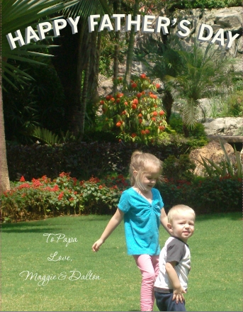 free fathers day photo card
