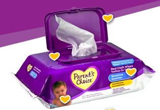 parent's choice baby wipes sample