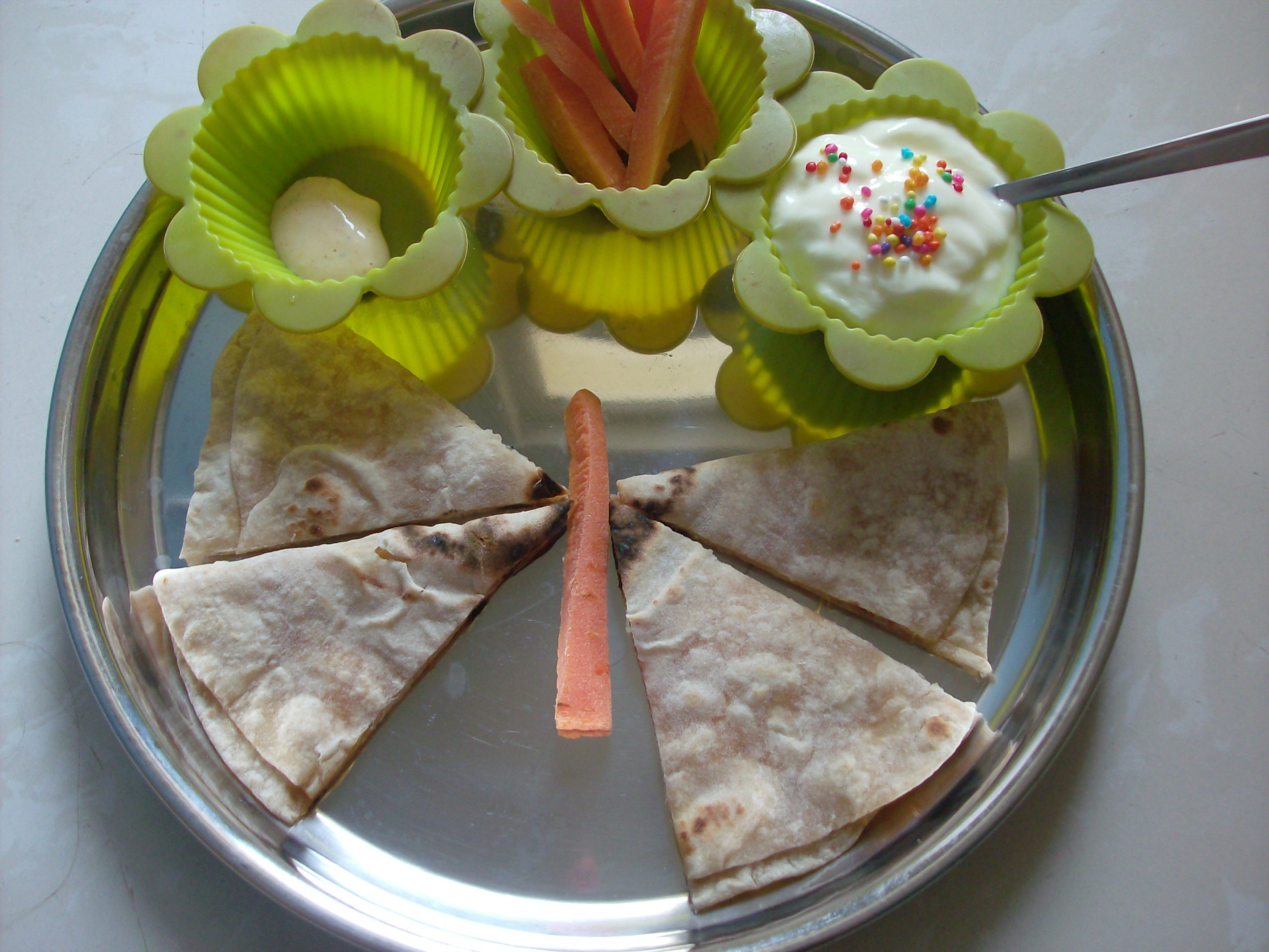 Muffin Tin Meal: Butterflies and Flowers
