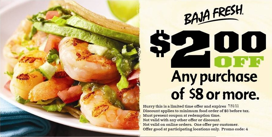 baja fresh coupon