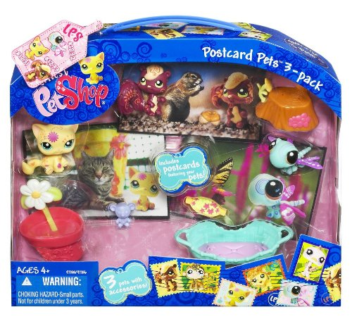 Littlest Pet Shop Ultimate Postcard Pet Set 3 Pack