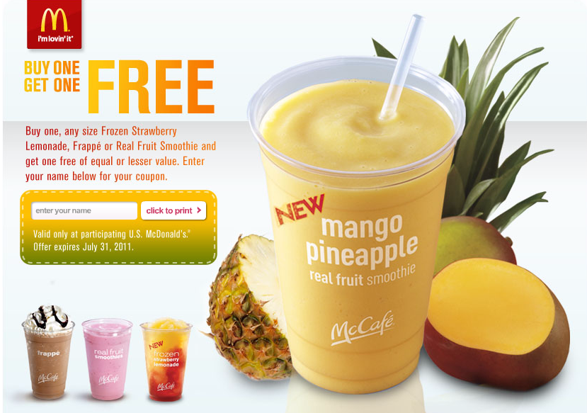 mcdonalds bogo smoothies