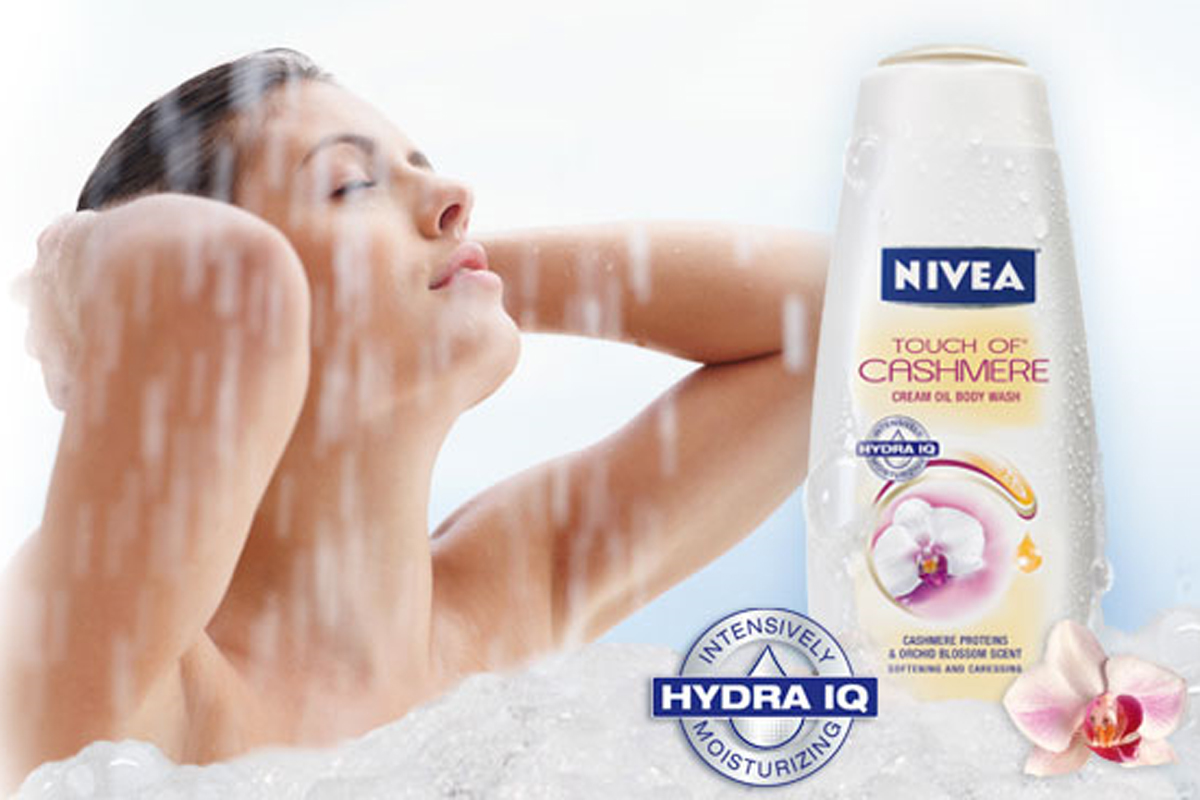 nivea body wash sample