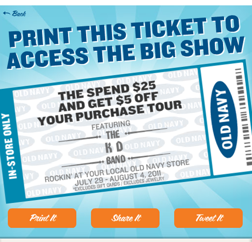old navy hottest ticket