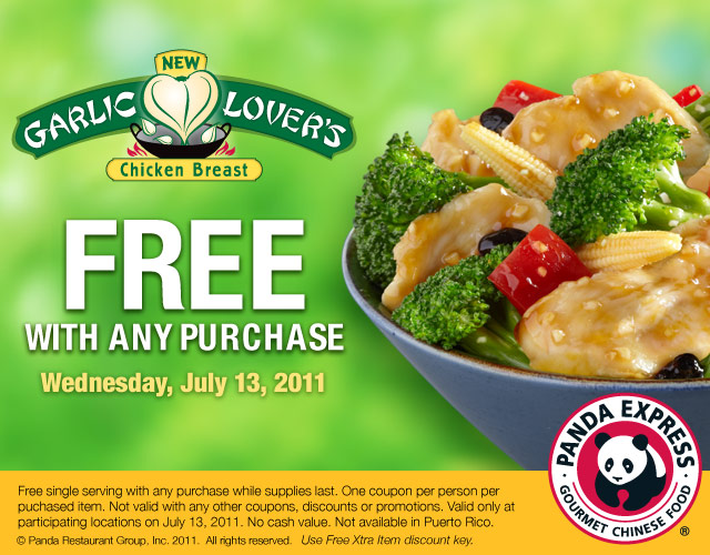 panda express free garlic lovers