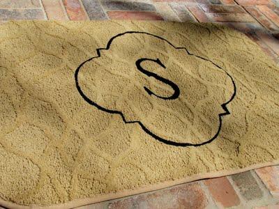 stenciled monogram rug