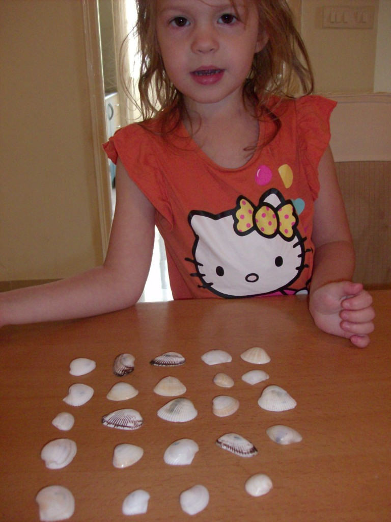 Summer Nature Activity Shell Matching Game