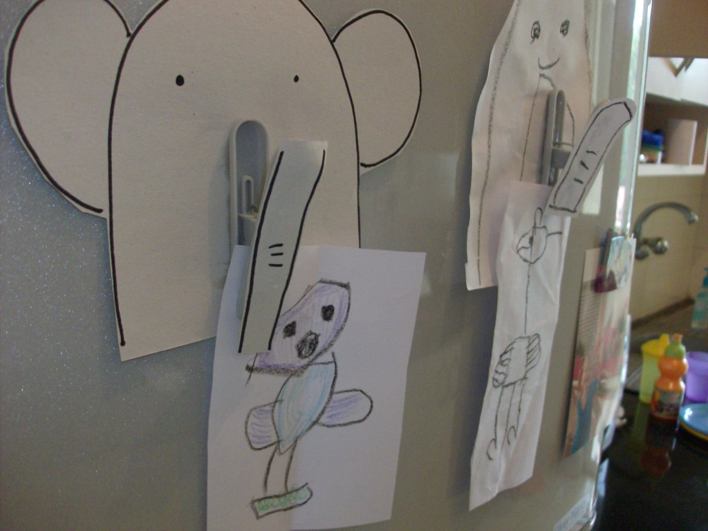 Back to School Craft: Elephant Fridge Clip