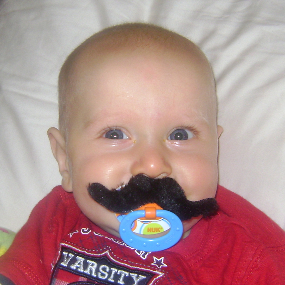 moustache pacifier idea