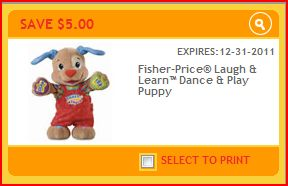 Fisher Price Toy Coupon