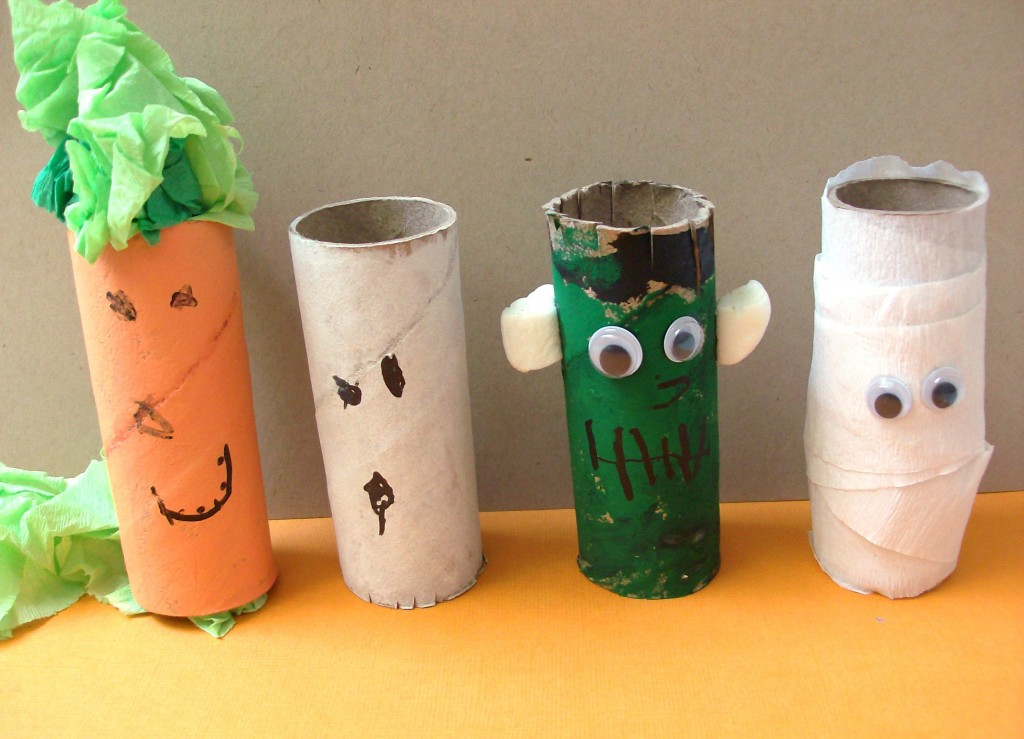 Halloween Kids Craft Toilet Paper Roll Pals
