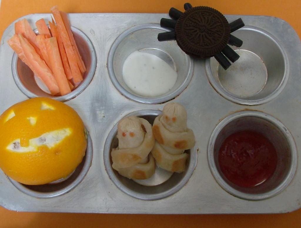 Halloween Muffin Tin Meal