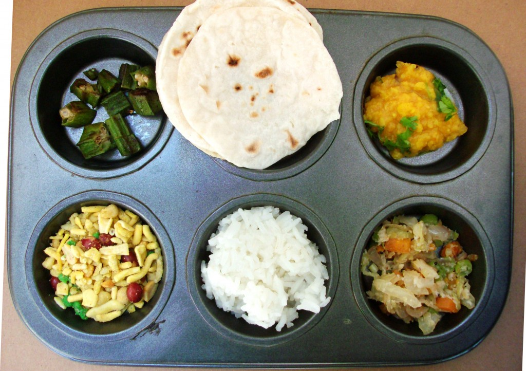 Muffin Tin Meal: Indian Food