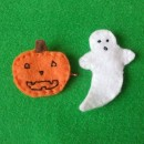 Homemade Halloween Felt Hairclips