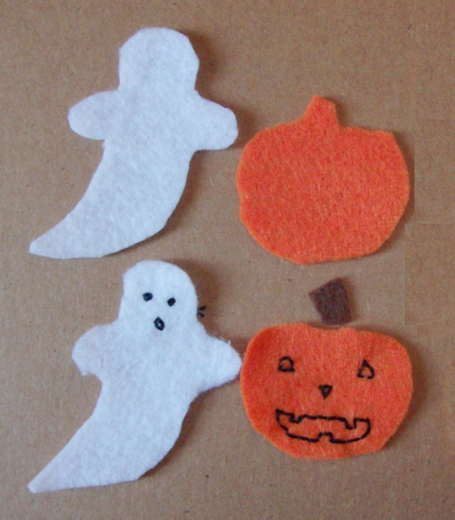 Homemade Halloween Felt Hair Clips