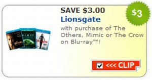 lionsgate coupon