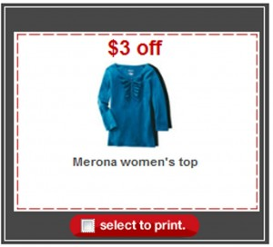 merona top coupon target apparel